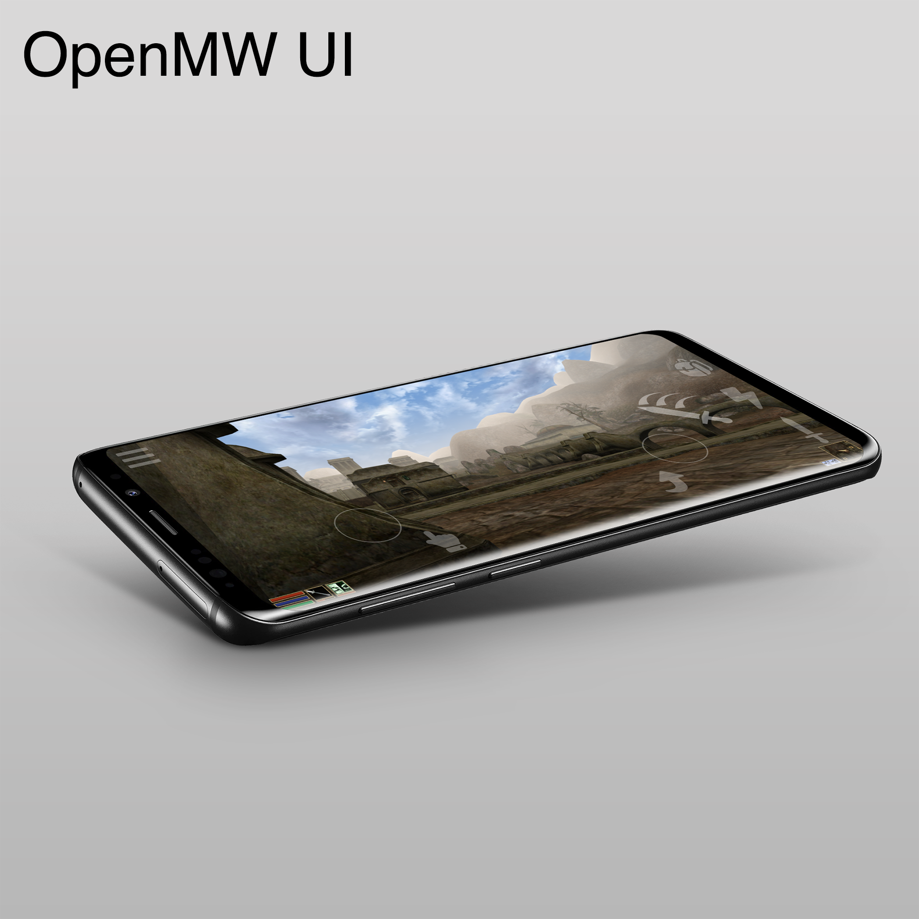 OpenMW UI- mobile video game redesign.